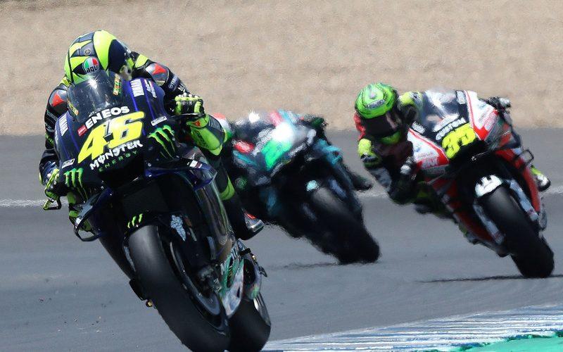 Yamaha-Pilot Valentino Rossi betrieb in Jerez Schadensbegrenzung
