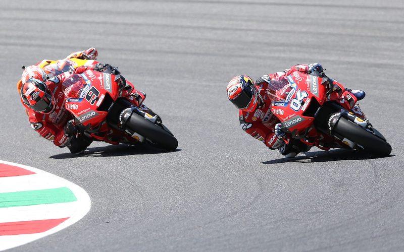 Andrea Dovizioso kämpfte beim Heimrennen mit Petrucci und Marquez