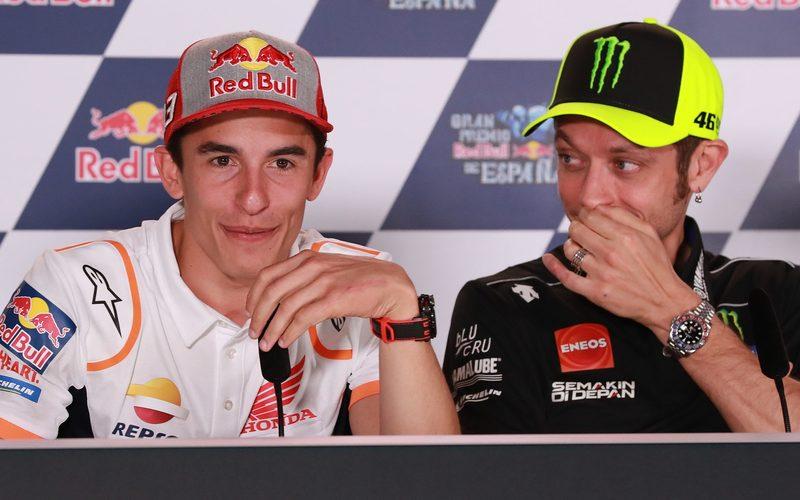 Trennen viele Jahre, aber nur noch wenige Titel: Marc Marquez und Valentino Rossi