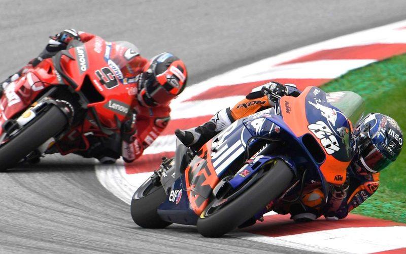 Miguel Oliveira hielt Ducati-Werksfahrer Danilo Petrucci in Schach