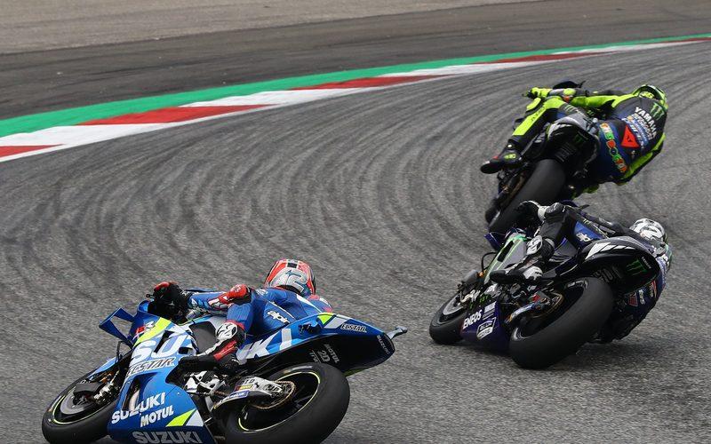 Vor allem auf der Bremse konnte Alex Rins gegen die Yamahas nichts ausrichten