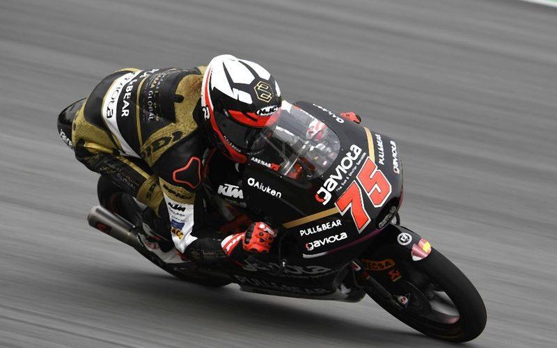 Albert Arenas freute sich über die Bestzeit am Nachmittag in Silverstone