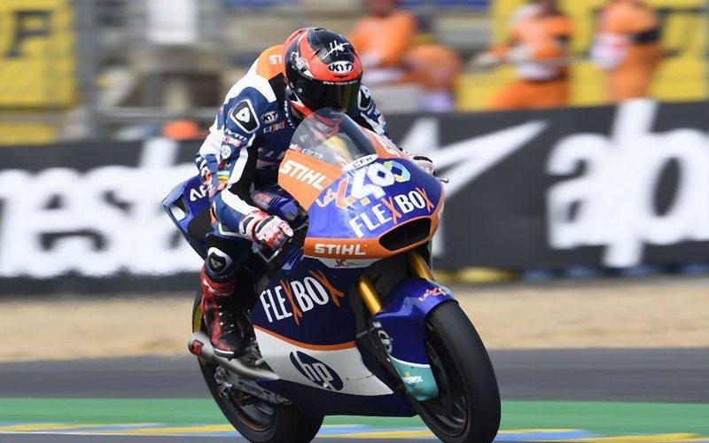 Augusto Fernandez bejubelte in Silverstone seinen zweiten Saisonsieg in der Moto2