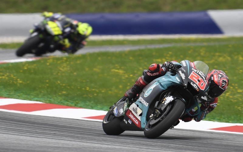 Fünfmal kam Fabio Quartararo in dieser Saison bereits vor Valentino Rossi ins Ziel