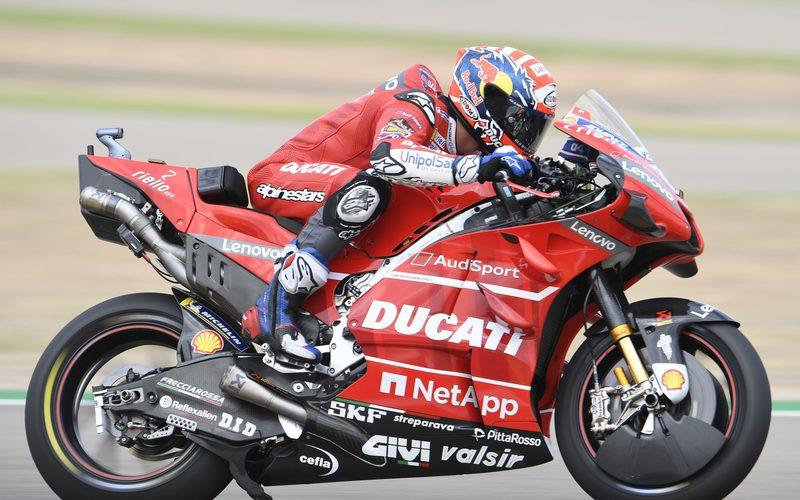 Ducati-Pilot Andrea Dovizioso fuhr in Aragon von P10 bis auf P2 nach vorn