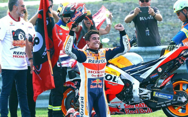 Marc Marquez in Thailand: Riesencrash am Freitag, Sieg und Titel am Sonntag