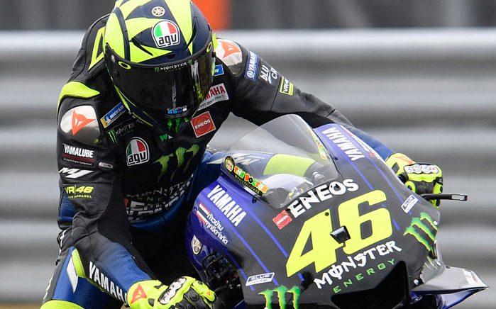 Die Zweifinger-Bremstechnik eignete sich Valentino Rossi in Motegi 2019 an