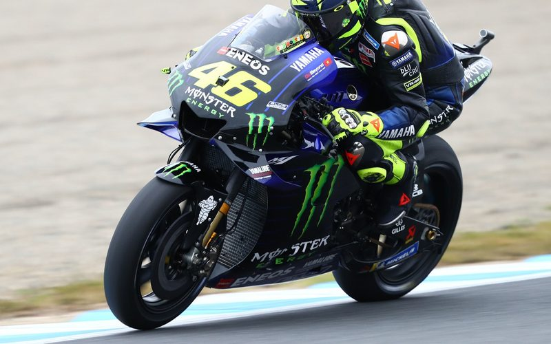 Valentino Rossi arbeitet in Motegi mit einer neuen Bremstechnik