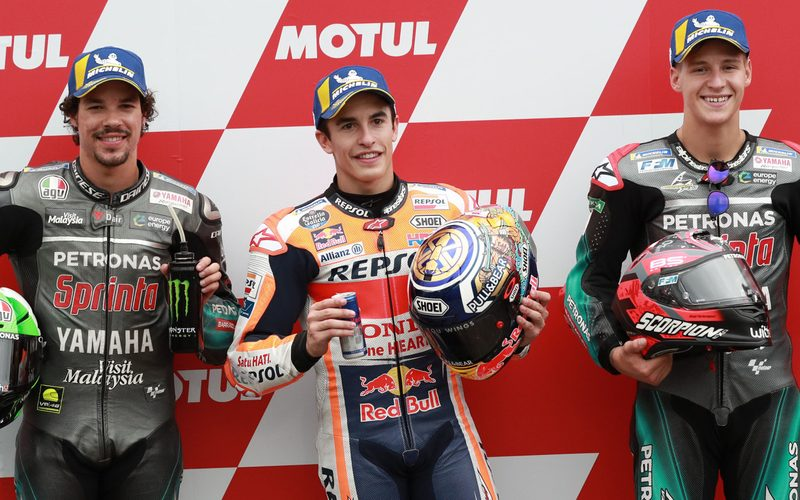 Top 3 im Motegi-Qualifying: Marc Marquez, Franco Morbidelli, Fabio Quartararo