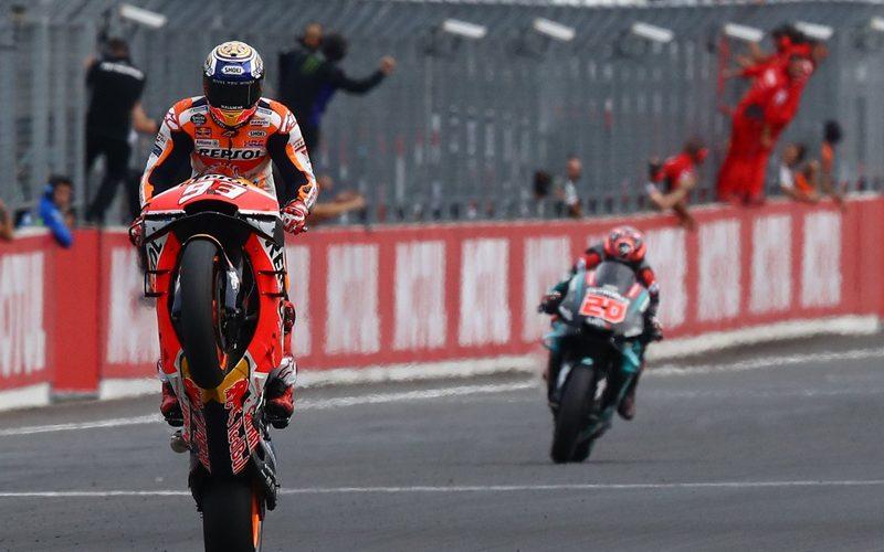 Für Marc Marquez war es der zehnte Triumph in dieser MotoGP-Saison