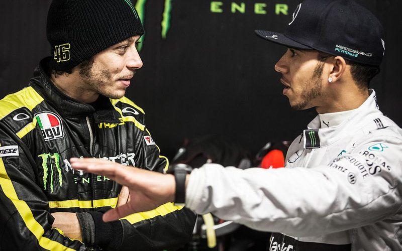 Valentino Rossi und Lewis Hamilton treffen im Dezember in Valencia aufeinander