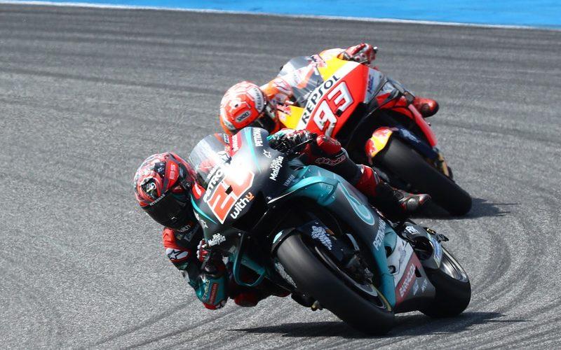 Marquez klemmte sich im Qualifying an das Hinterrad von Quartararo