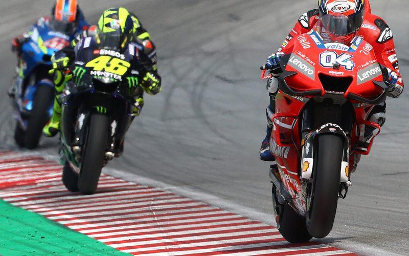 Im Kampf um P3 in Sepang setzte sich Dovizioso knapp gegenüber Rossi durch