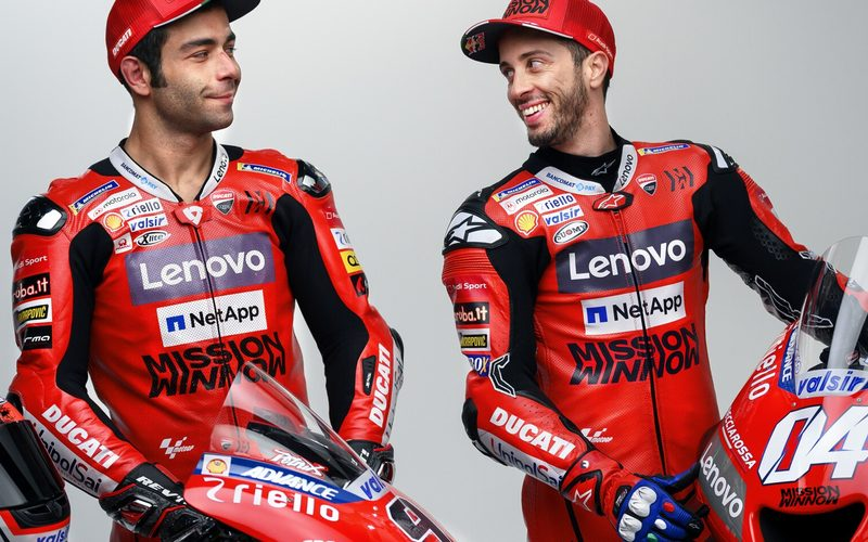 Danilo Petrucci (rechts) und Andrea Dovizioso vertreten Ducati auch 2020