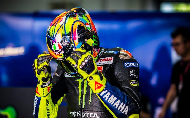 Unverwechselbar: Das charakteristische Neongelb macht Valentino Rossi aus