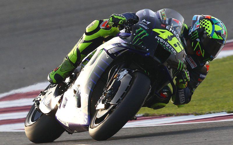 Beim Katar-Test trat bei Valentino Rossi wieder hoher Reifenverschleiß auf