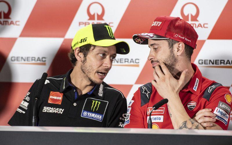 Valentino Rossi und Andrea Dovizioso leben in aktuell in einer Speerzone