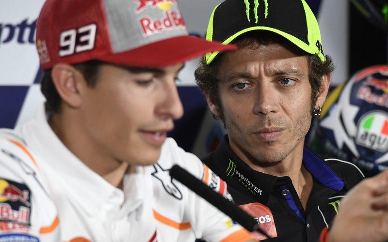 Marc Marquez und Valentino Rossi duellieren sich seit der MotoGP-Saison 2013