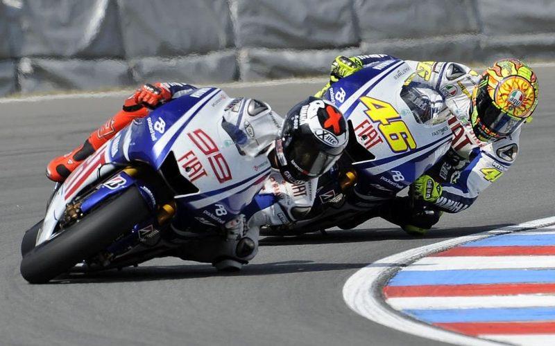 Jorge Lorenzo und Valentino Rossi lieferten sich einige erbitterte Duelle