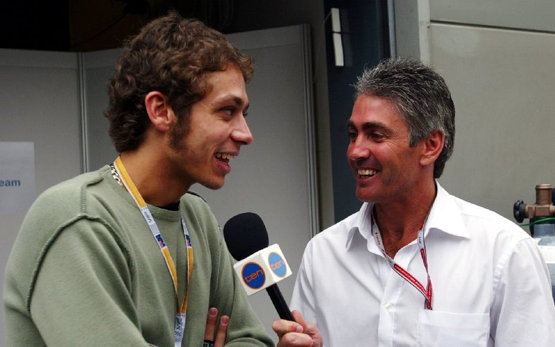 Auf der Strecke trafen sich Valentino Rossi und Mick Doohan (hier 2004) nie