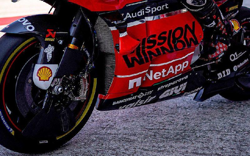 Die Ducati von Michele Pirro mit den beiden Neuerungen