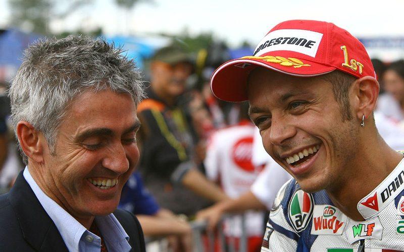 Foto aus dem Archiv (Brünn 2008): Mick Doohan und Valentino Rossi
