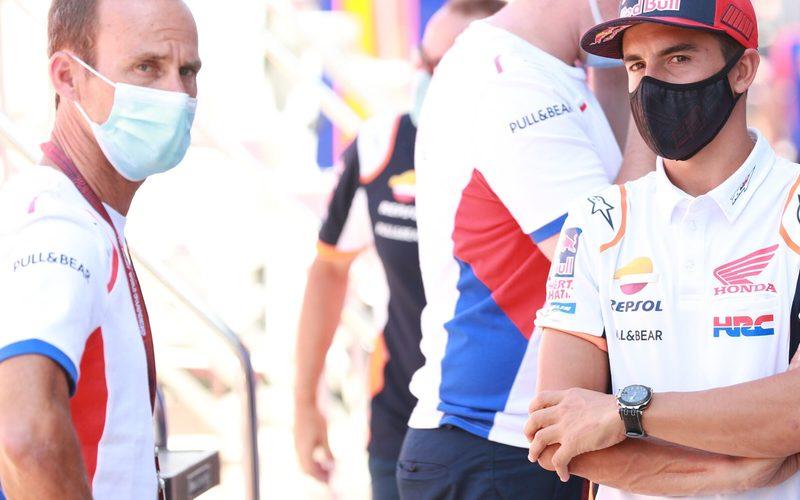 Honda-Teamchef Alberto Puig und MotoGP-Weltmeister Marc Marquez