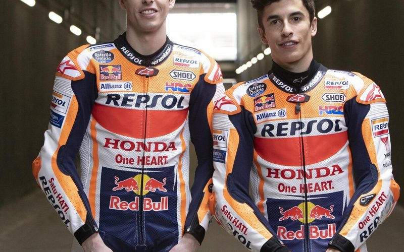 Teamfoto: Alex und Marc Marquez einige Tage vor dem Rennen