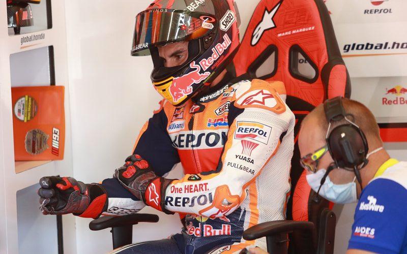 Aufgabe im Q1: Marc Marquez zieht sich vom Andalusien-GP zurück