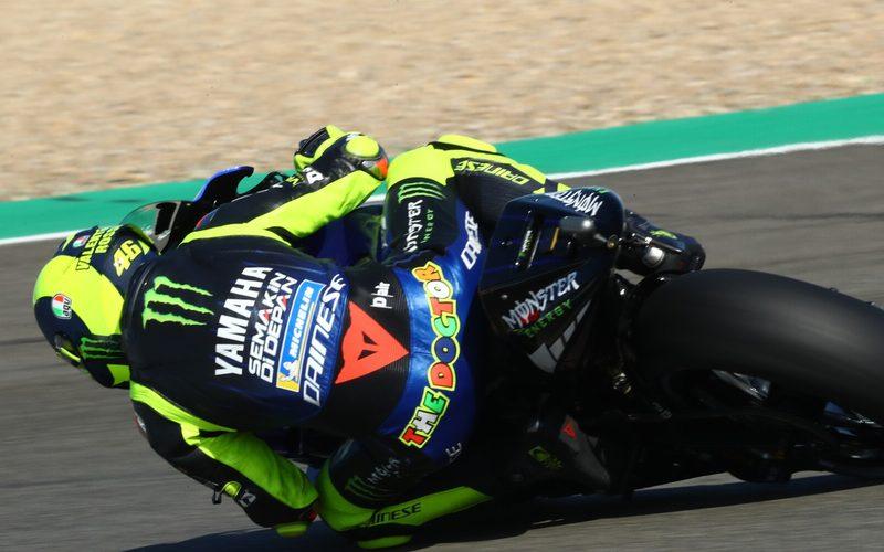Valentino Rossi arbeitet für die Michelin-Reifen auch an seinem Fahrstil
