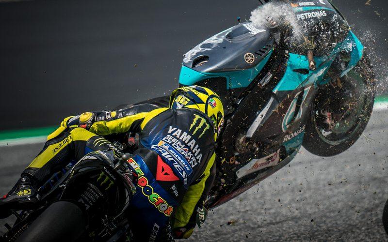 Valentino Rossi hatte beim Österreich-Grand-Prix großes Glück
