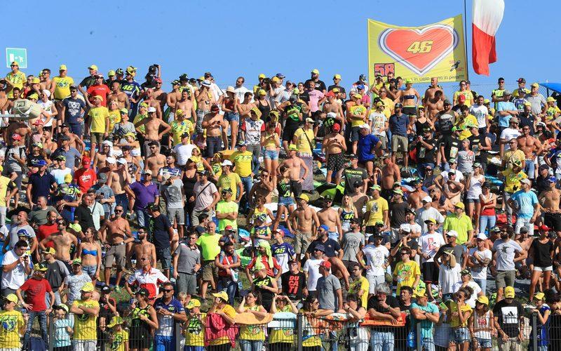 Foto aus dem Archiv: Misano ist in der Regel fest in der Hand der Rossi-Fans