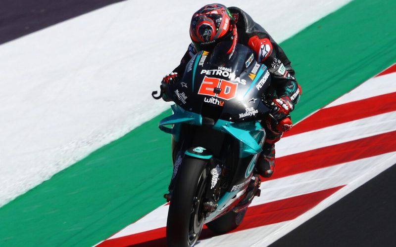 Fabio Quartararo fuhr in den finalen Minuten die schnellste Runde des Tages