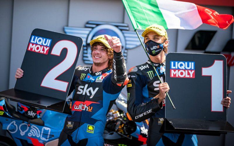 Das VR46-Team von Valentino Rossi feierte einen Doppelsieg