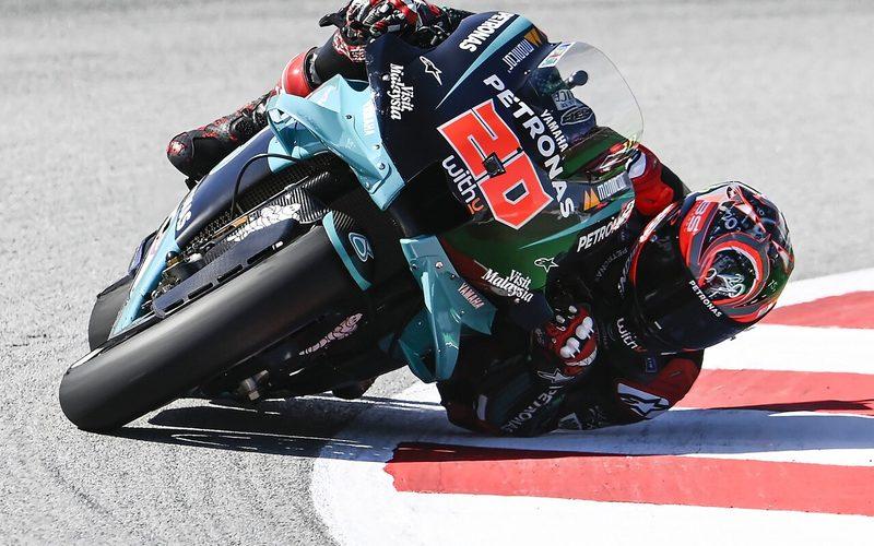 In seiner letzten Runde fuhr Fabio Quartararo Bestzeit