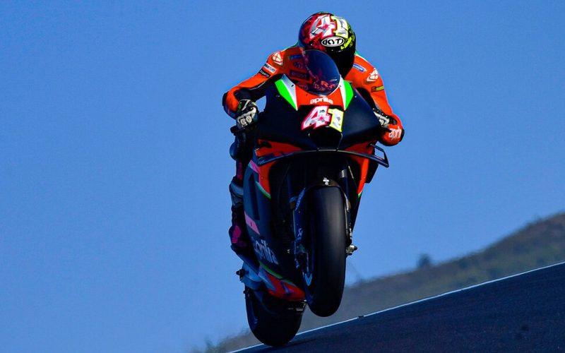 Aleix Espargaro fuhr mit der MotoGP-Maschine von Aprilia