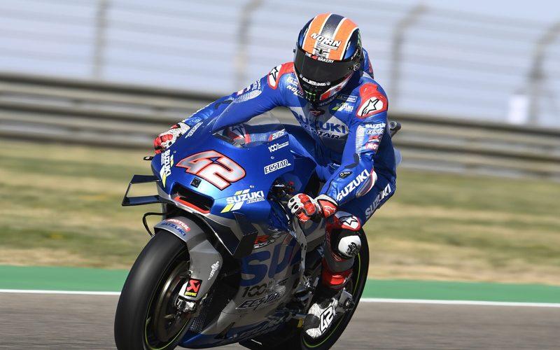 Alex Rins widerstand dem Druck von Alex Marquez und fuhr zum Sieg in Aragon