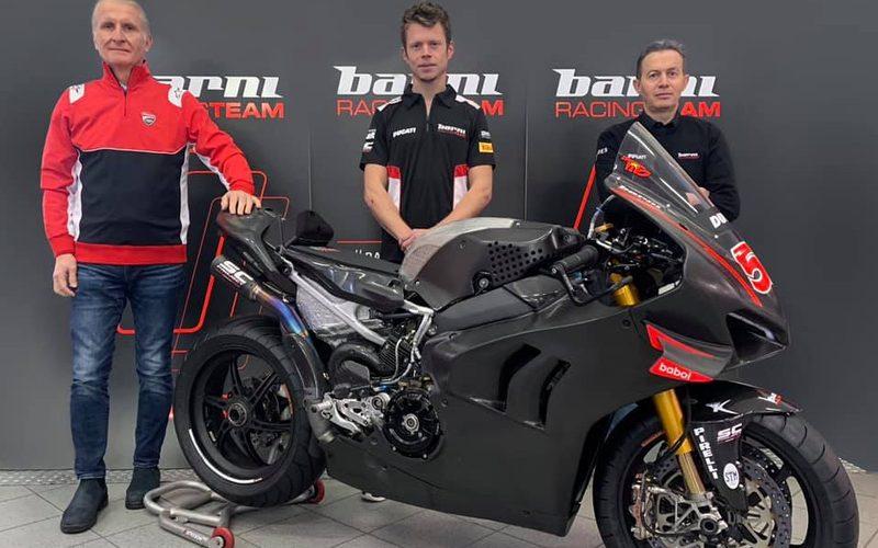 Ducati-Sportdirektor Paolo Ciabatti, Tito Rabat und Teamchef Marco Barnabo