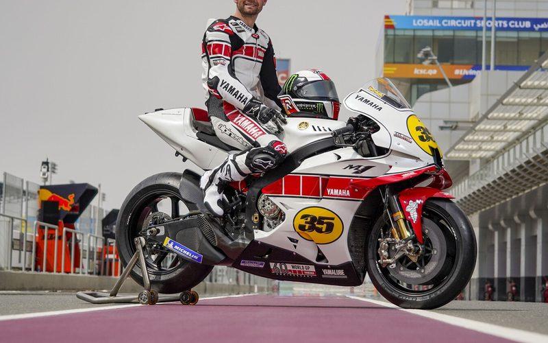 Cal Crutchlow darf die rot-weiß lackierte Yamaha beim Test in Katar pilotieren.