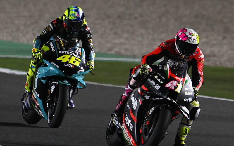 Aleix Espargaro konnte sich schnell von Valentino Rossi absetzen