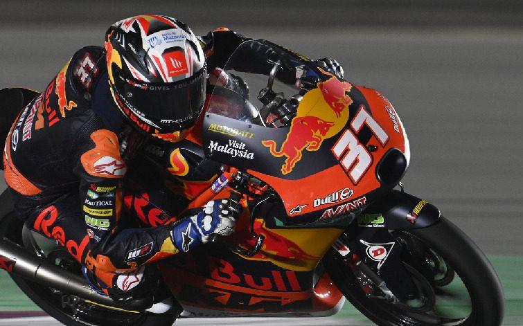 In der Vorwoche noch Zweiter feierte Pedro Acosta im zweiten Rennen den Sieg