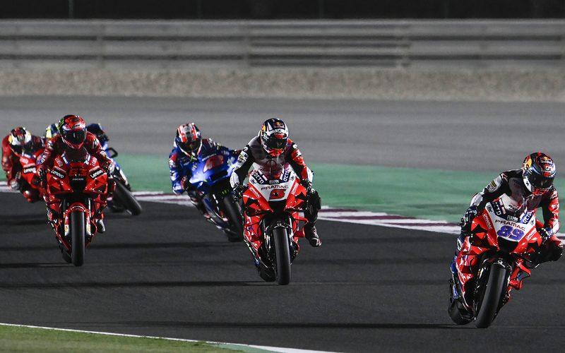 In seinem zweiten MotoGP-Rennen führte Jorge Martin das Feld lange an