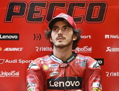 Ducati-Werkspilot Francesco Bagnaia verpasste beim Doha-GP im Windschatten den Bremspunkt.