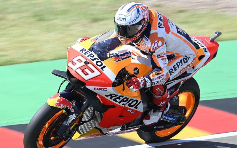 Marc Marquez unterstrich bereits im FP1 seine Stärke auf dem Sachsenring.