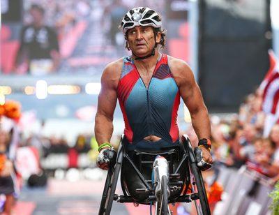 KLAGENFURT,AUSTRIA,02.JUL.17 - TRIATHLON - Ironman Austria. Image shows Alex Zanardi (ITA). Photo: GEPA pictures/ Daniel Goetzhaber