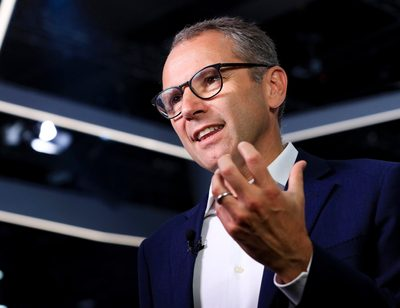 Stefano Domenicali, chief executive officer of Automobili Lamborghini SpA, speaks during a Bloomberg Television interview on the opening day of the IAA Frankfurt Motor Show in Frankfurt, Germany, on Tuesday, Sept. 10, 2019.
