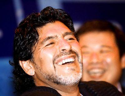 GEPA-07111033028 - DONGGUAN,CHINA,07.NOV.10 - FUSSBALL - Diego Maradona in China, Charity Fussballmatch, Pressekonferenz. Bild zeigt Diego Maradona. Foto: GEPA pictures/ Osports