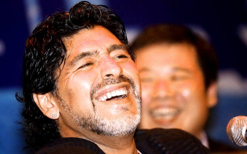 FUSSBALL – Diego Maradona, China-Tour, Benefiz-Fussball-Spiel, PK