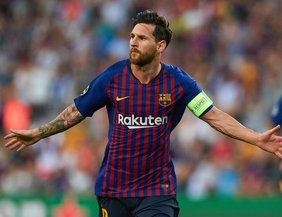 BARCELONA,SPAIN,18.SEP.18 - SOCCER - UEFA Champions League, group stage, FC Barcelona vs PSV Eindhoven. Image shows the rejoicing of Lionel Messi (Barcelona).