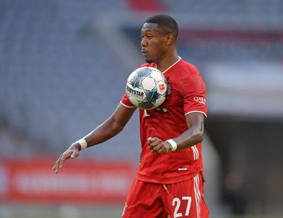 MUNICH,GERMANY,13.JUN.20 - SOCCER - 1. DFL, 1. Deutsche Bundesliga, FC Bayern Muenchen vs Borussia Moenchengladbach. Image shows David Alaba (Bayern). Photo: GEPA pictures/ Bernd Feil/ M.i.S./ POOL - ATTENTION - COPYRIGHT FOR AUSTRIAN CLIENTS ONLY - DFL regulations prohibit any use of photographs as image sequences and/or quasi-video - Editorial Use ONLY